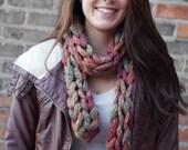 Handknit Womens Scarf Chain Link Chunky Knit Fall Fashion Autumn Fashion Winter Fashion Back to School
