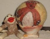 Felted Wool Ball Teddy Bear