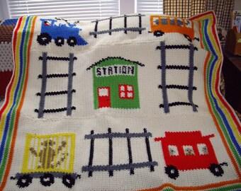 pattern   Boys Train Afghan