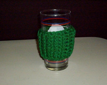 Glass, Can or to-go Cup Cozy-KELLY GREEN