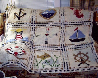 Pattern--By the Shores of Cape Cod afghan