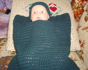pattern-Baby Crochet Cocoon and Beanie
