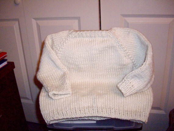 Knitting Patterns Baby Sweaters Top Down : pattern-baby toddler knit top down sweater by crochetbysandi
