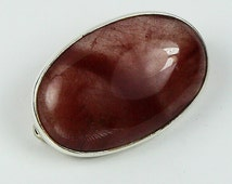 PIMP YOUR HAT...Mark Garbarini Sterling Silver Red Rutilated Quartz Hat Pin