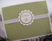 Set of 6 holiday thank you cards in a decorative box
