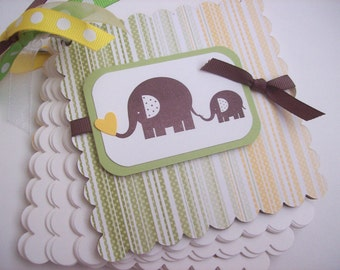 Elephant Advice Book, Memory Book, Brag Book, Journal - Perfect for Baby Showers, Bridal Showers, Celebrations