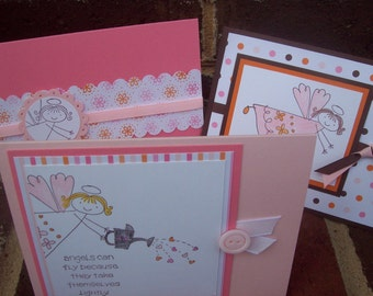 Stationery Set, Angels stationery set, Friendship stationery, Faith cards - Set of 6 cards
