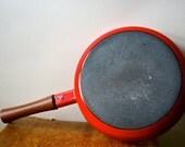 Dansk Saute Pan Kobenstyle Enamel Jens Quistgaard IHQ Red Mint with Label Valentines Day - REDUCED was 95.00