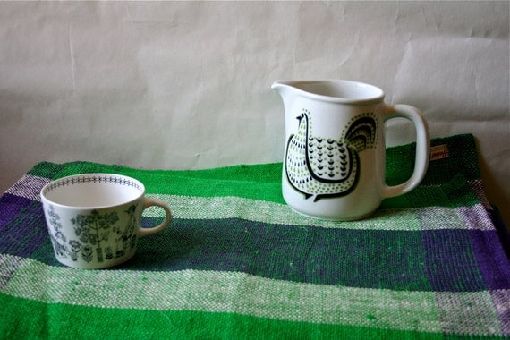 Vintage Helmi Vuorelma Finland Placemat Hand Woven Linen Fabric Finnish Modern Unused