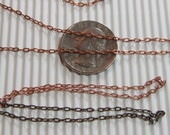 9 ft Raw Brass (Red) Cable Chain