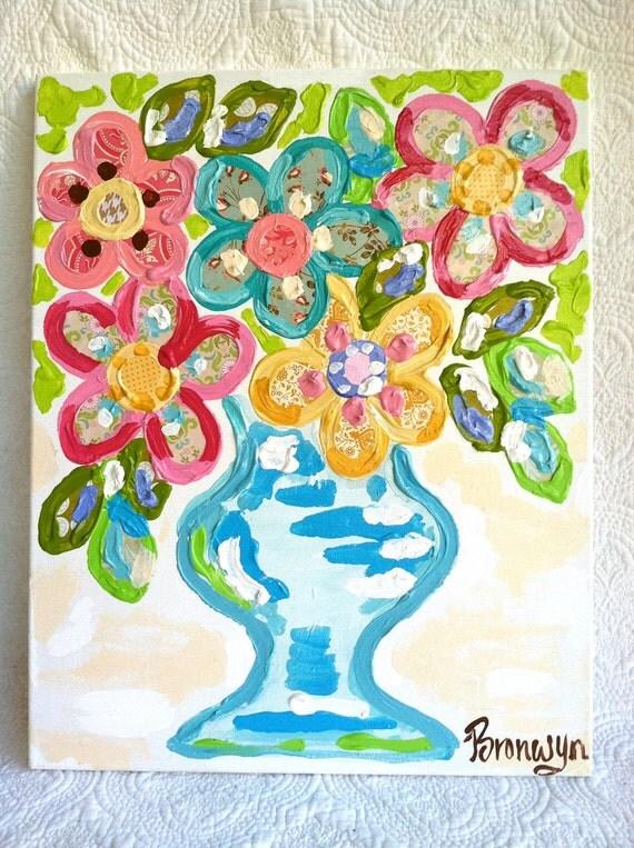 Happy Flowers - Bronwyn Hanahan Original