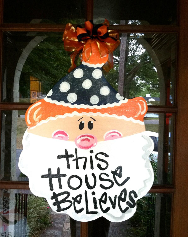 Auburn Christmas Door Hanger