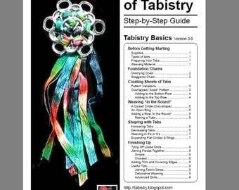 Tabistry Basics Step-by-Step Illustrated PDF Tutorial - Instructions for aluminum soda pop can tab weaving