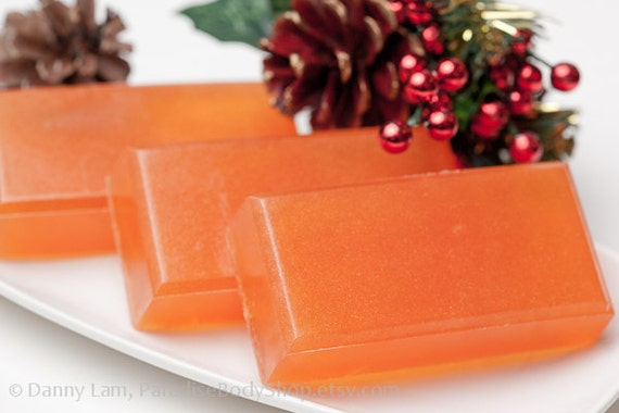 Winter Brew soap - olive oil soap - Spiced Punch, Orange Zest, Apple - SHOP CLOSING SALE