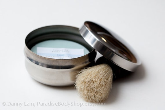 CUSTOM Men's Shave Set - stainless steel metal bowl, lid, soap of your choice - CLOSING SALE