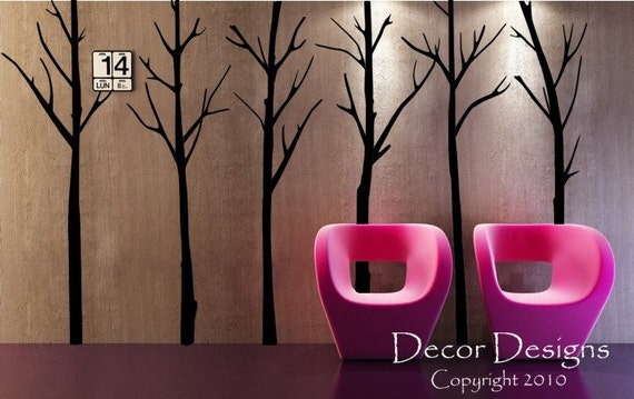 Bare Winter Trees Vinyl Wall Decal