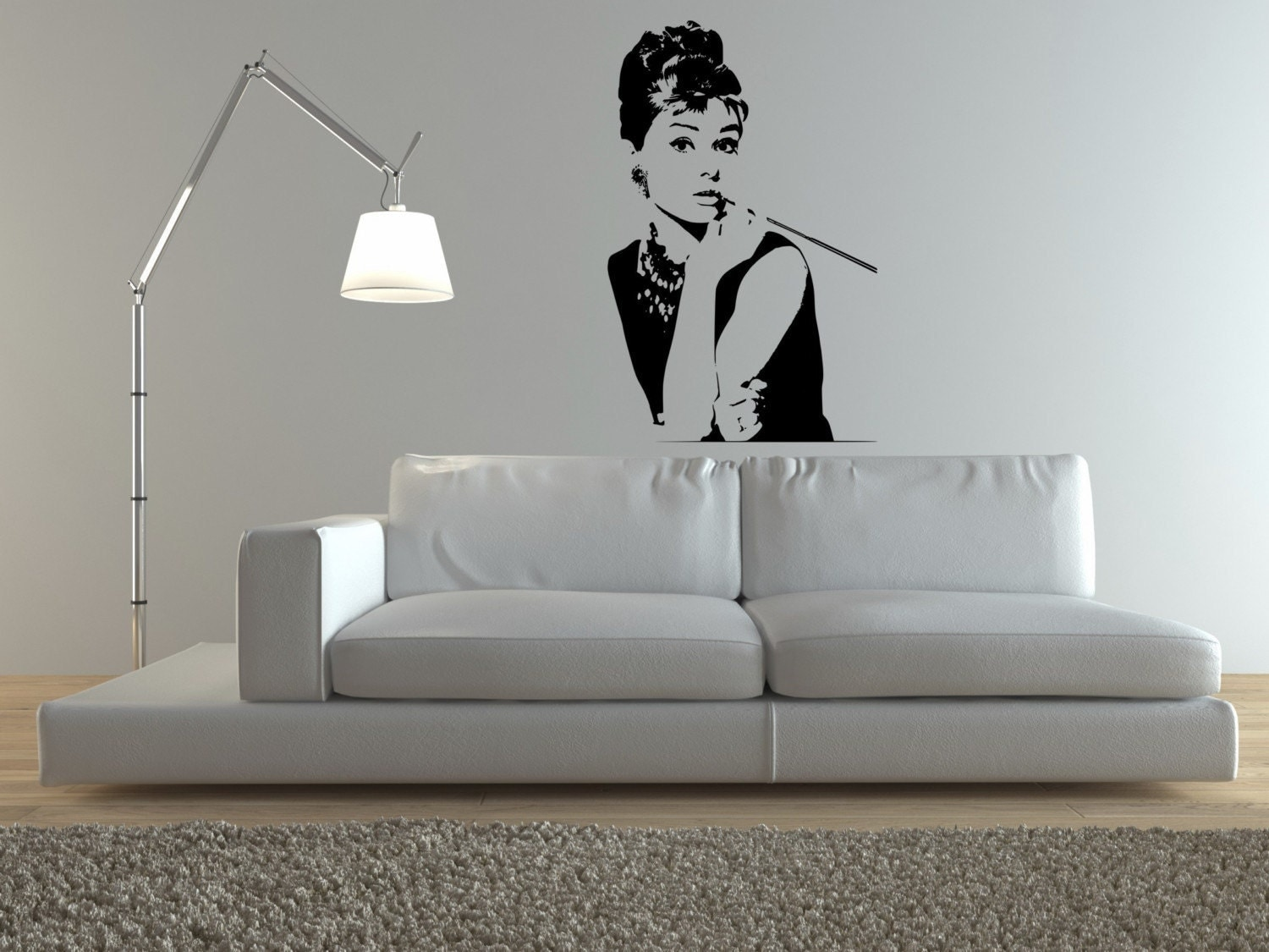 Audrey Hepburn Wall Decal FREE SHIPPING By DecorDesigns On Etsy ... Part 95