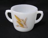 Vintage Fire King Wheat Open Sugar Bowl