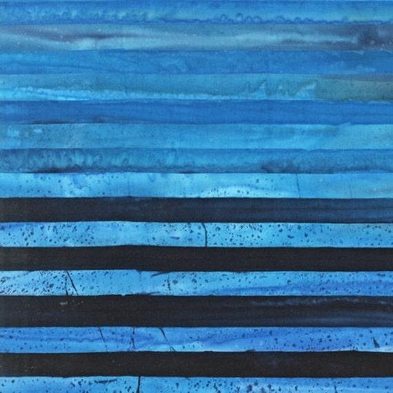 Blue Stripes, Elementals, Artisan Batiks by Robert Kaufman