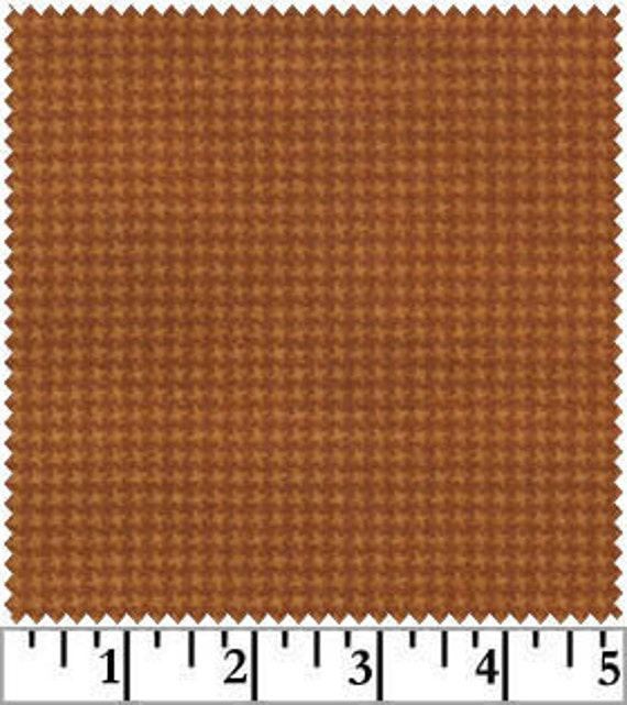 burnt orange houndstooth woolies flannel