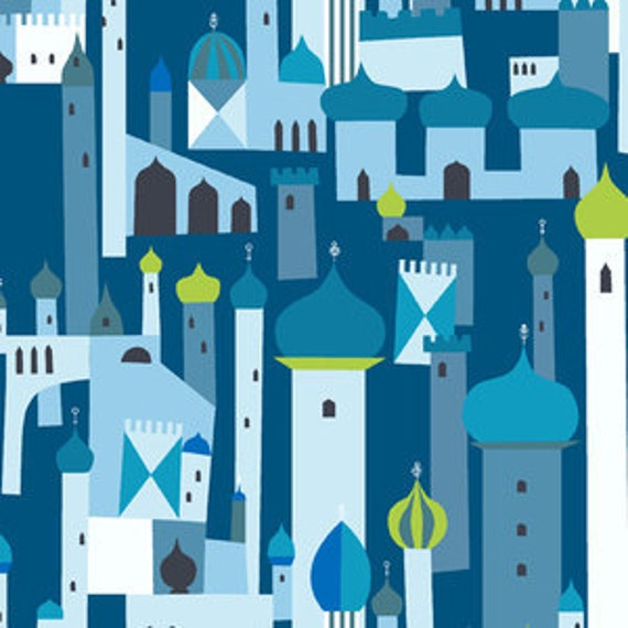 SALE - Blue Arabian Nights Towers, 1001 Peeps