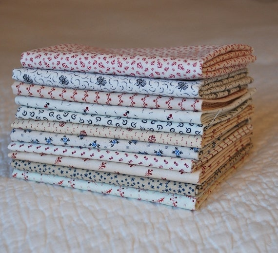 1800s Shirtings, Fat Quarter Bundle