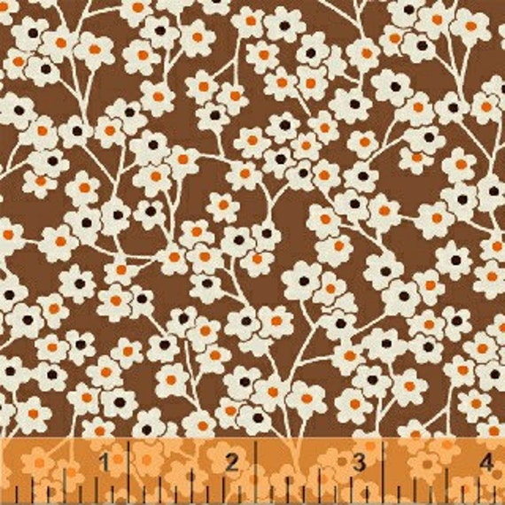 Little Floral on Brown, Floursack