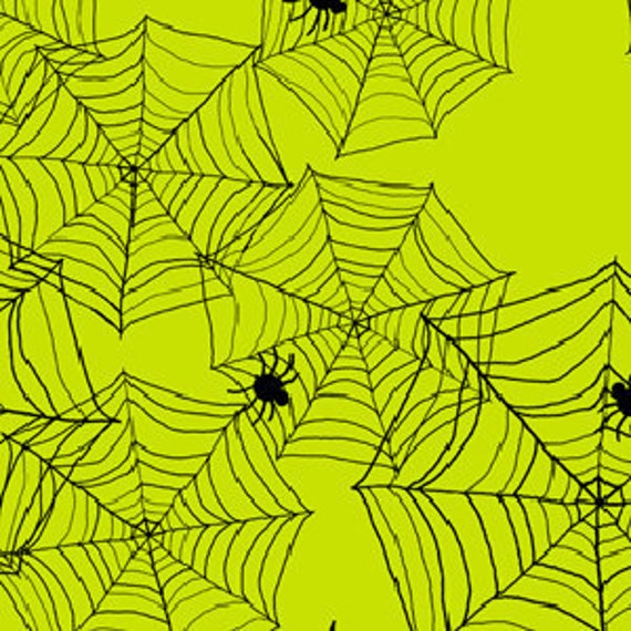 Spider Web on Green, Delightfully Frightful