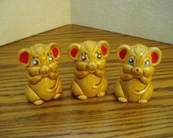 Three Little Mice\/Salt Pepper and Toothpick Holder