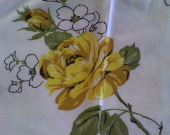 Vintage Penneys Yellow Rose Pillow Cases