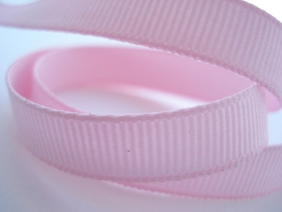 10 yards (30 feet ) of Light Pink Grosgrain Ribbon - 3/8 inches (9 mm)