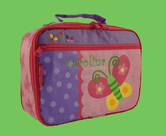 Personalized Stephen Joseph BUTTERFLY Lunchbox
