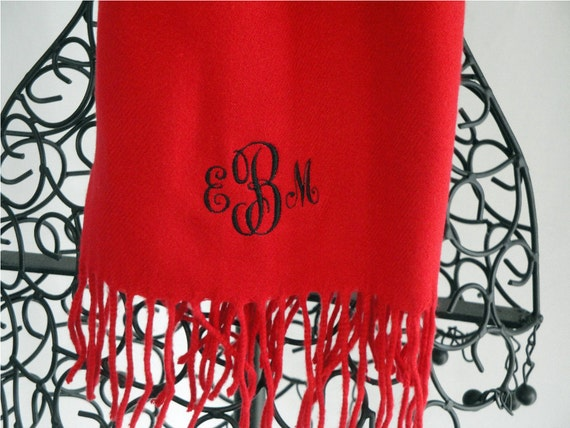 Personalized Scarf Feels Like Cashmere in Red