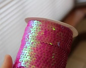 Decoden Sequin Trim Ab Dragon Scales Chain Hot pink 5 Yards