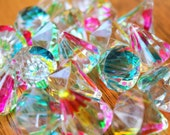 Lucite Charms Colorful Carnival Splash Diamond Charms 30mm 6 pcs