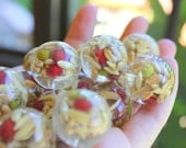 Resin Beads Seeds Grain Inside Beads 6pcs 24mm