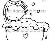 Pure Innocence  015, digital stamp, clip art, bath, relax, digi stamp