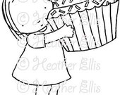 Pure Innocence 030 - Digi stamp - Instant Download Digital Digi Stamp - printable