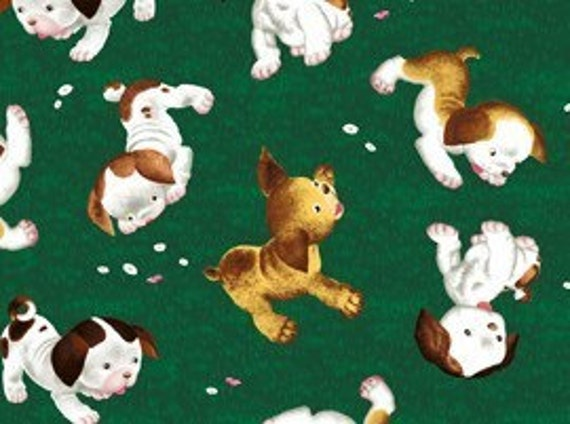 Poky Little Puppy Fabric From Quilting Treasures 1 Yard