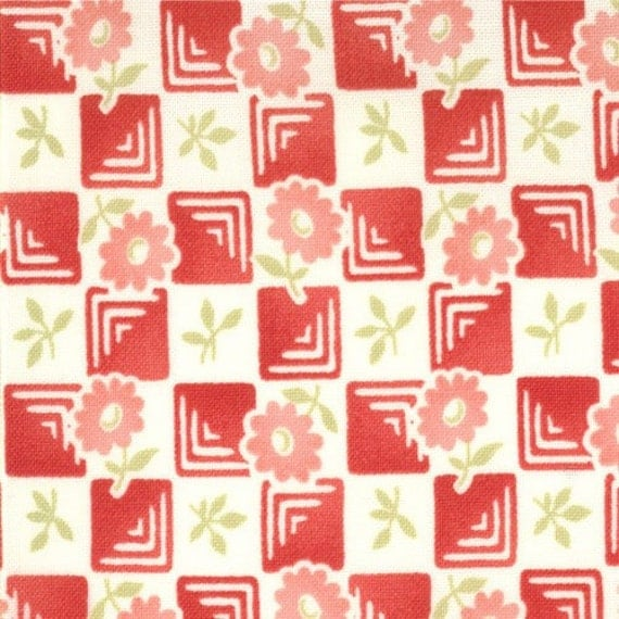 Bliss by Bonnie and Camille for Moda - 1/2 Yard Check Scarlet