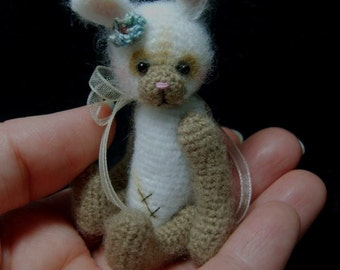 Miniature Crochet THREAD ARTist Vintage Bear Friend -  Bunny Rabbit Pattern PDF