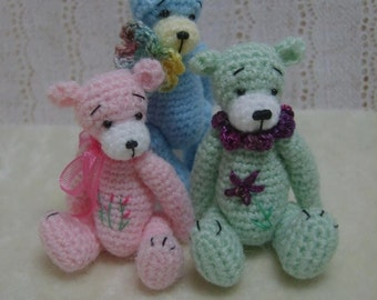 Miniature Crochet THREAD ARTist  Madisyn  Teddy Bear Pattern PDF