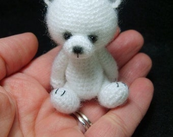 Miniature Thread Crochet Teddy Bear Pattern PDF by Stefanie Devlin TheTinyToyBox