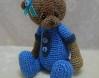 Mini Crochet THREAD ARTist Teddy Bear Pattern PDF - TheTinyToyBox