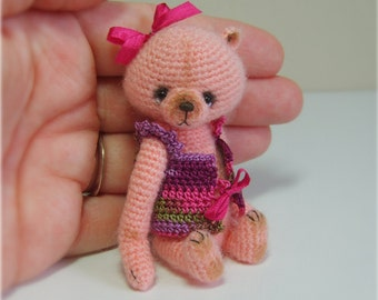 Miniature Crochet THREAD ARTist DreSSed TeDDy Bear Pattern PDF by Stefanie Devlin