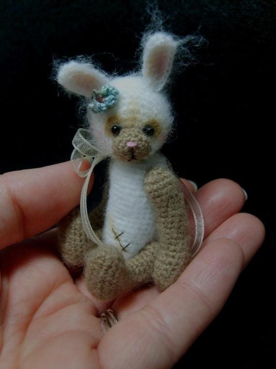 Miniature Crochet THREAD ARTist Vintage Bear Friend -  Bunny Rabbit Pattern PDF