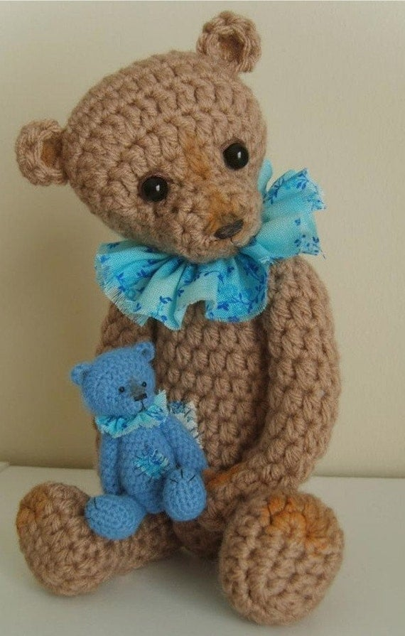 Make your Own Small Crochet THREAD ARTist Vintage Style Teddy Bear like Dominic  PATTERN PDF - By Stefanie Devlin