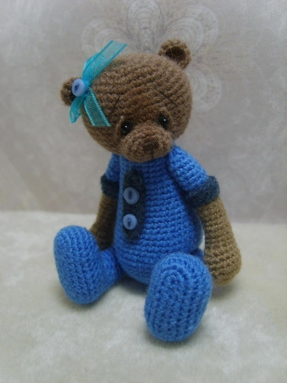 Mini Crochet THREAD ARTist Teddy Bear Pattern PDF - TheTinyToyBox