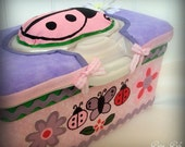 ADORABLE Full Size Pop Up Baby Wipes Case Ladybugs Buterflies Flowers