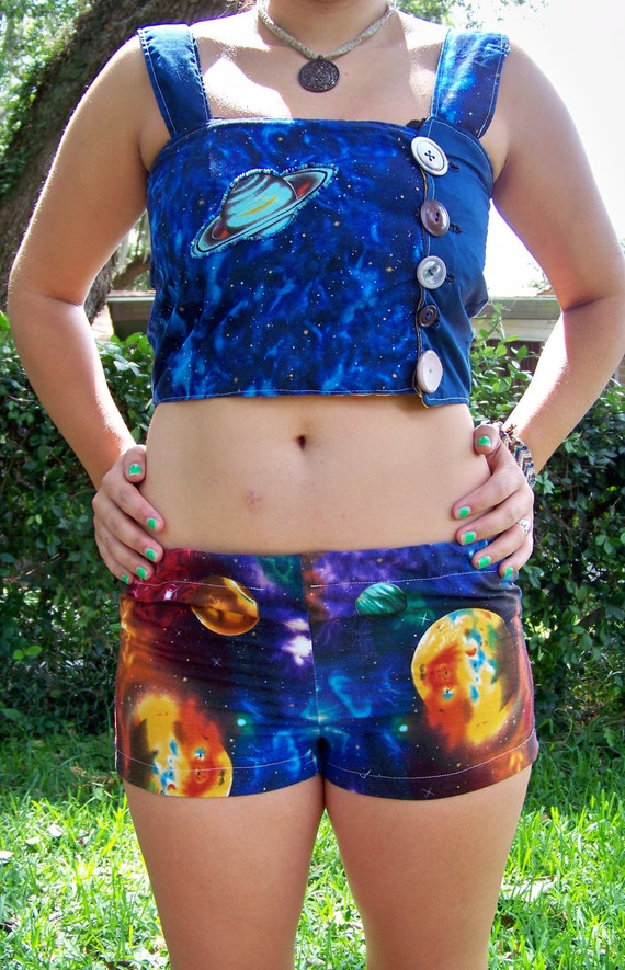 Outerspace Galaxy top and shorts